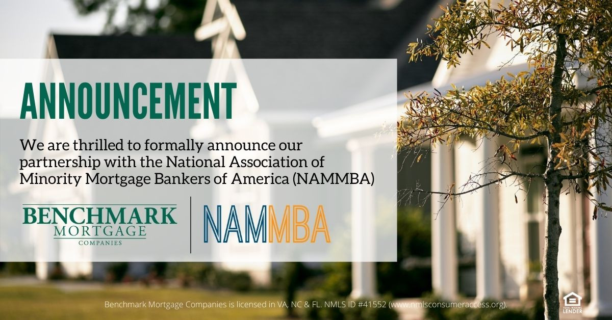 Benchmark Mortgage Companies, an affiliate of Tidewater Home Funding, LLC., Announce Partnership with NAMMBA